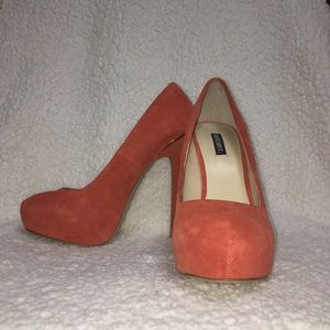 Burnt -Orange Suede Pumps!